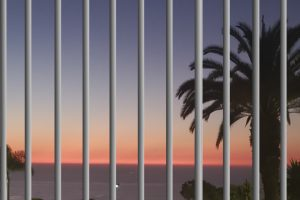 bars over sunset