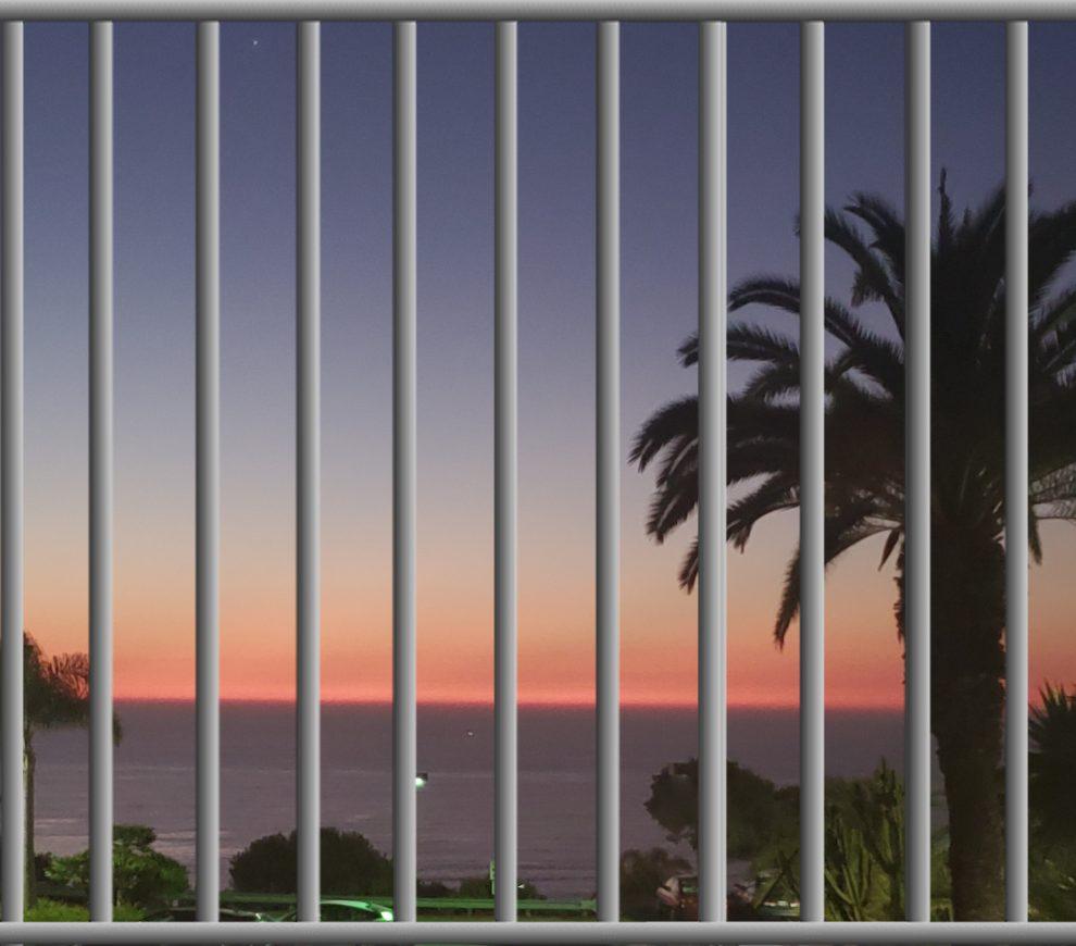 bars over sunset