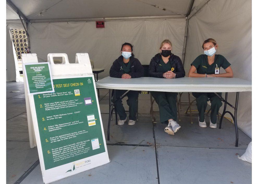 Nurses COVID-19 testing