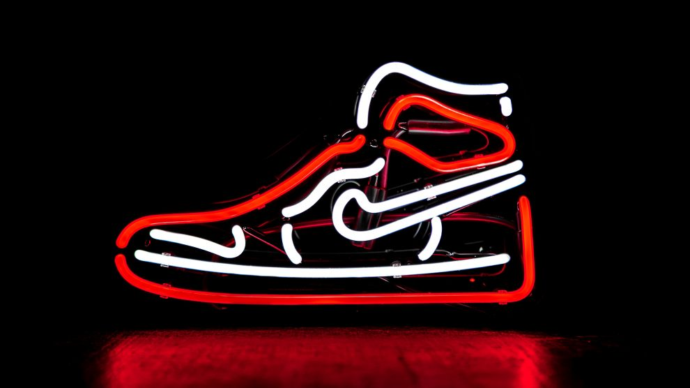 nike shoes neon sign